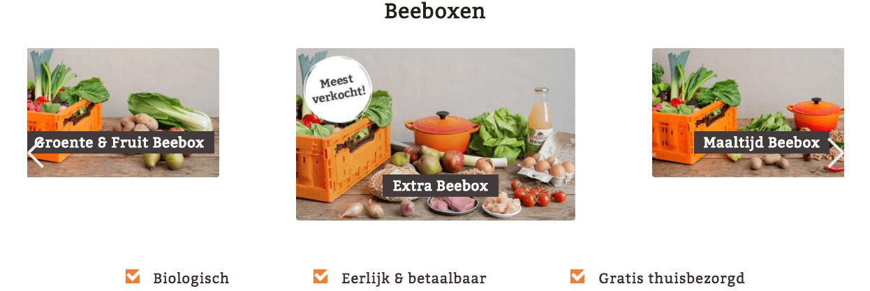 beebox - biologische maaltijdbox van willem - drees